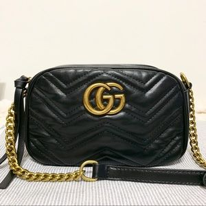 Gucci GG marmont camera crossbody black